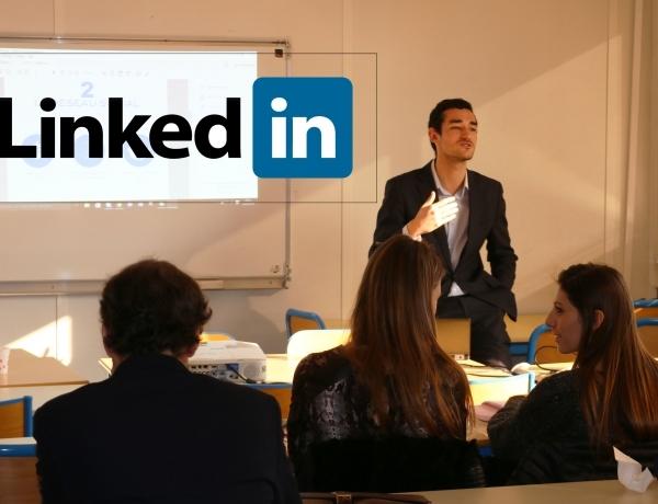 Alexandre LEMONNIER présente l'importance de LinkedIn aux futurs alternants de l'ESPI !