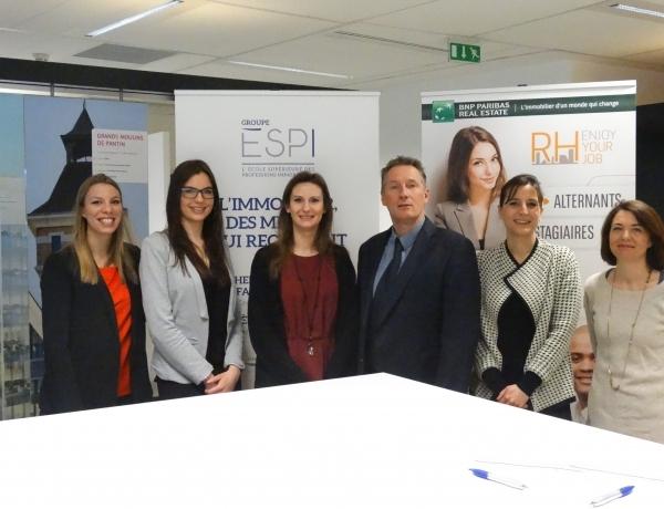 Partenariat entre BNP PARIBAS REAL ESTATE et le Groupe ESPI