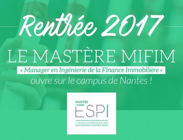 NANTES : Le Mastère MIFIM ouvre à la rentrée 2017 !