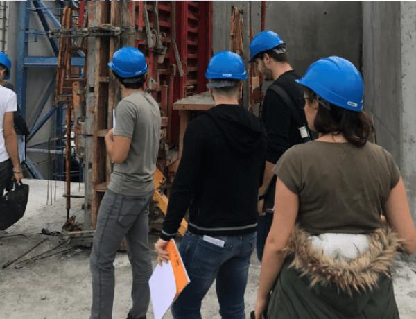 MARSEILLE : 1ère visite de chantier pour les M1 TP !