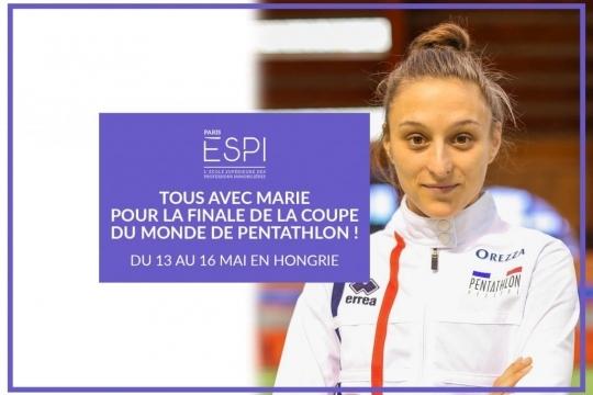 PARIS | Tous avec Marie Oteiza, Espienne et sportive de haut niveau, qualifiée pour la Finale de la Coupe du Monde de Pentathlon !