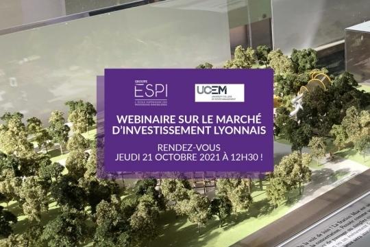 GROUPE | Jeudi 21 octobre 2021, rejoignez le webinaire sur le marché d'investissement lyonnais !