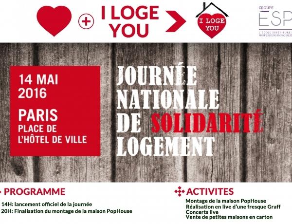 I LOGE YOU : Journée Nationale de solidarité logement  – Samedi 14 mai