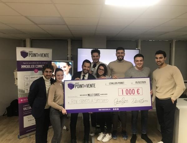 PARIS | L'association RDV SPORTS remporte le défi lancé par le Groupe Point de Vente